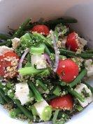 Duo van boontjes met feta en quinoa